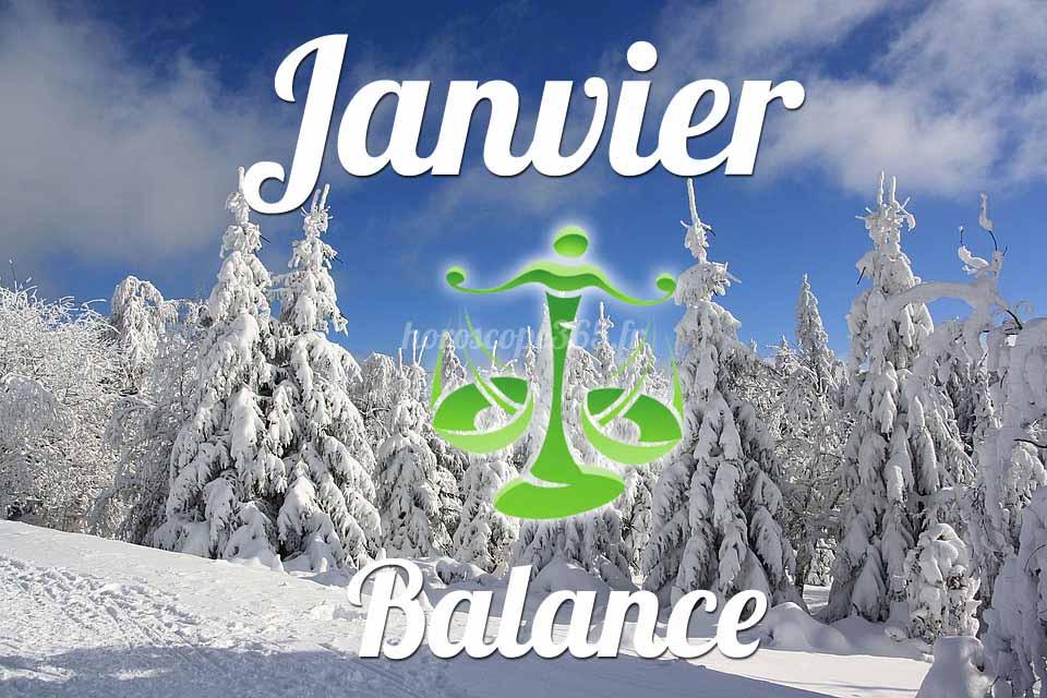 Balance horoscope Janvier