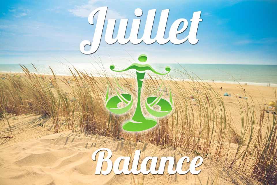 Balance horoscope Juillet