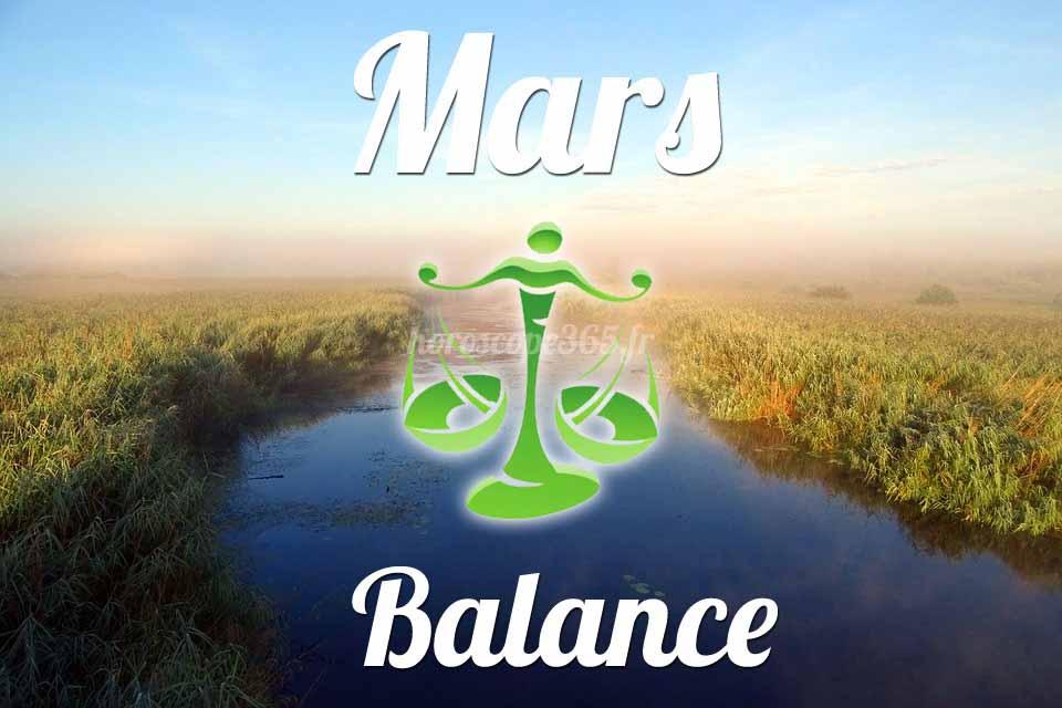Balance horoscope Mars