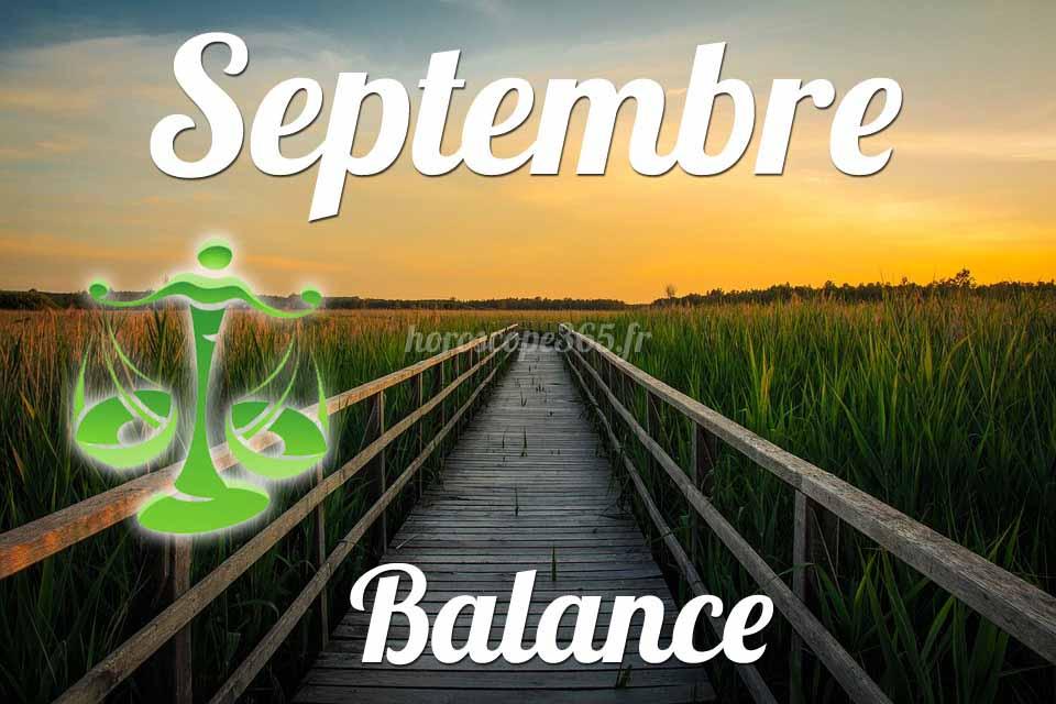 Balance horoscope Septembre