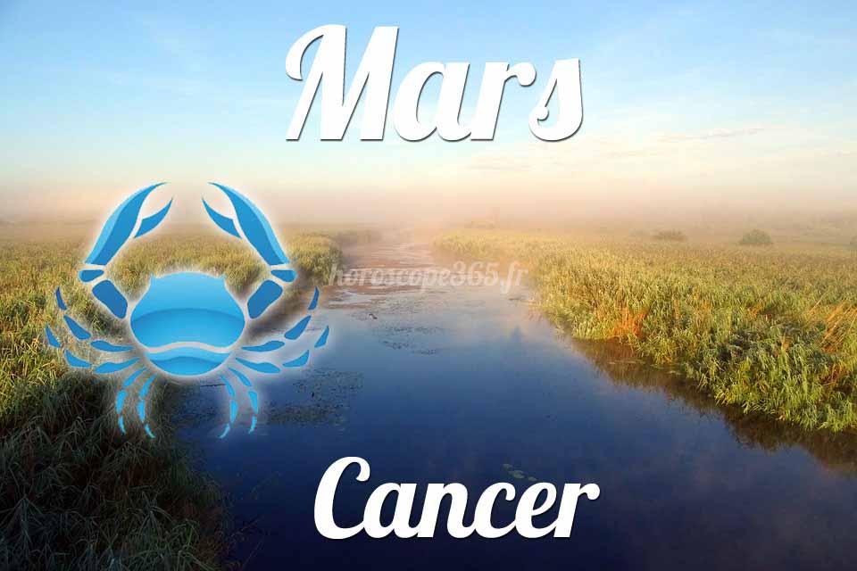 Cancer horoscope Mars