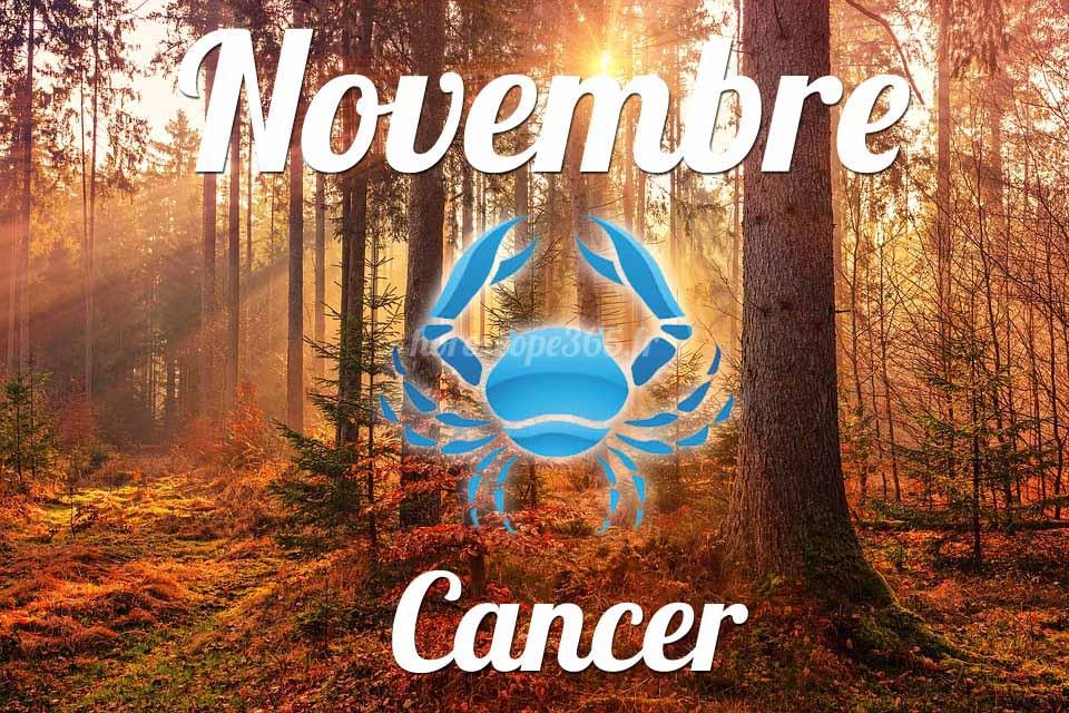 Cancer horoscope Novembre