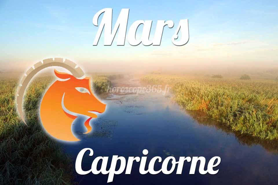 Capricorne horoscope Mars