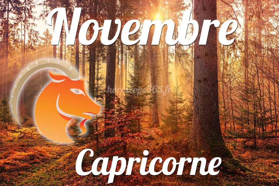 Capricorne novembre 2019