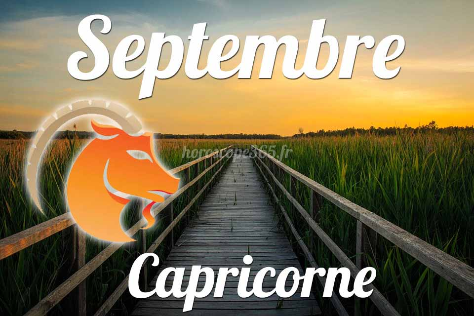 Capricorne horoscope Septembre