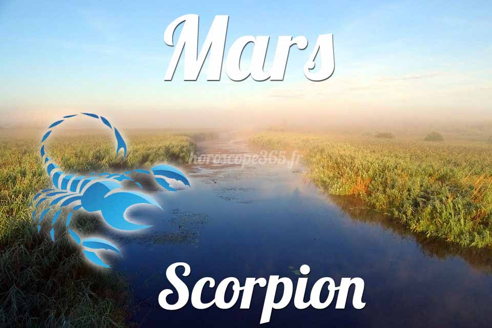 Scorpion horoscope Mars