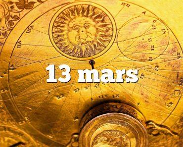 13 mars