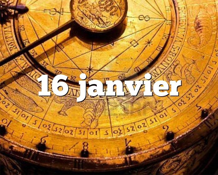 16 janvier