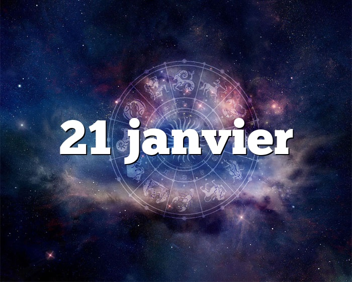 21 janvier