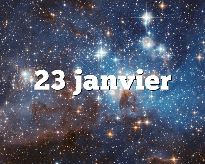 23 janvier