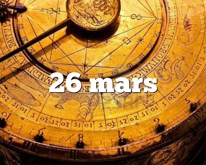 26 mars