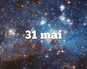 31 mai