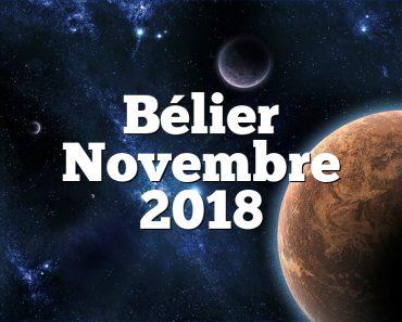 Bélier Novembre 2018