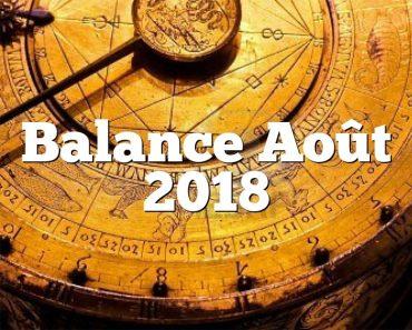 Balance Août 2018