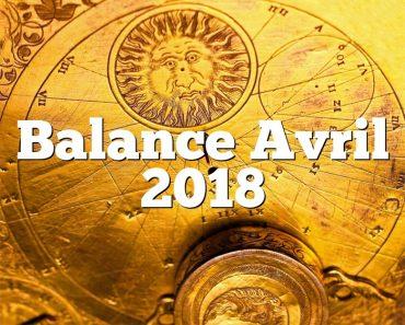 Balance Avril 2018