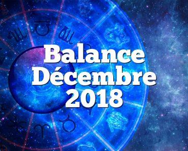 Balance Décembre 2018
