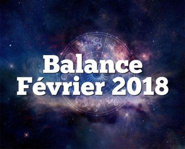 Balance Février 2018