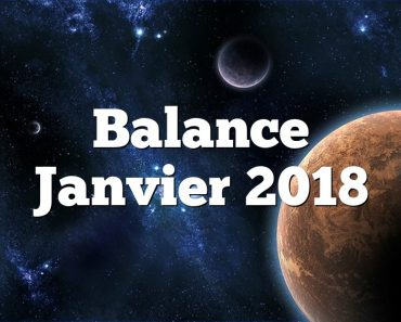 Balance Janvier 2018
