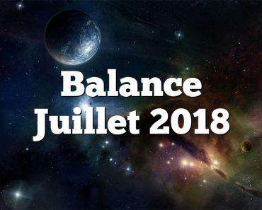 Balance Juillet 2018