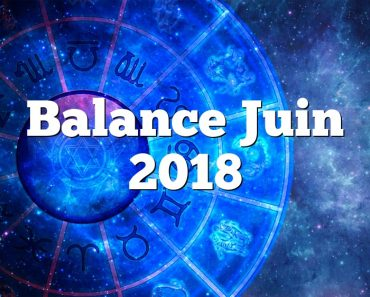 Balance Juin 2018