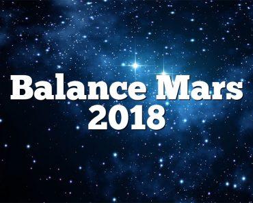 Balance Mars 2018