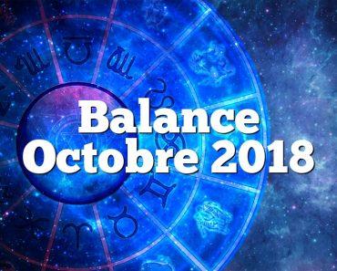 Balance Octobre 2018