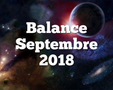 Balance Septembre 2018