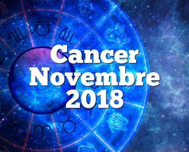 Cancer Novembre 2018