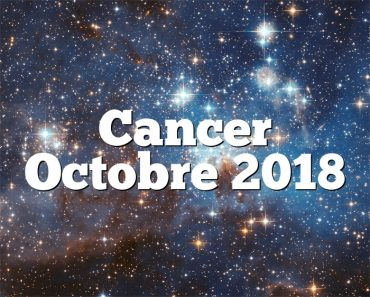 Cancer Octobre 2018