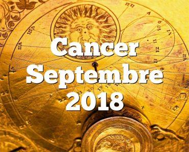 Cancer Septembre 2018