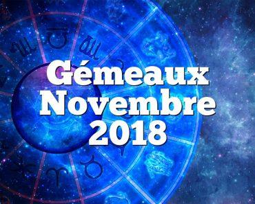 Gémeaux Novembre 2018