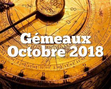 Gémeaux Octobre 2018