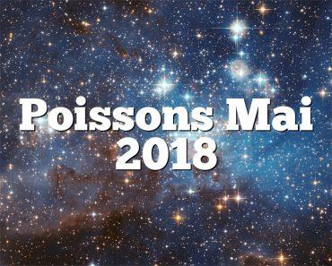 Poissons Mai 2018