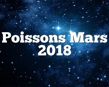 Poissons Mars 2018
