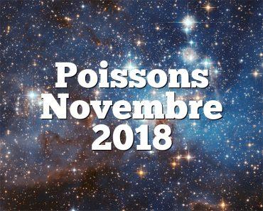 Poissons Novembre 2018