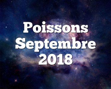 Poissons Septembre 2018