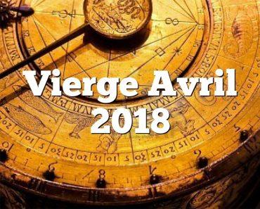 Vierge Avril 2018