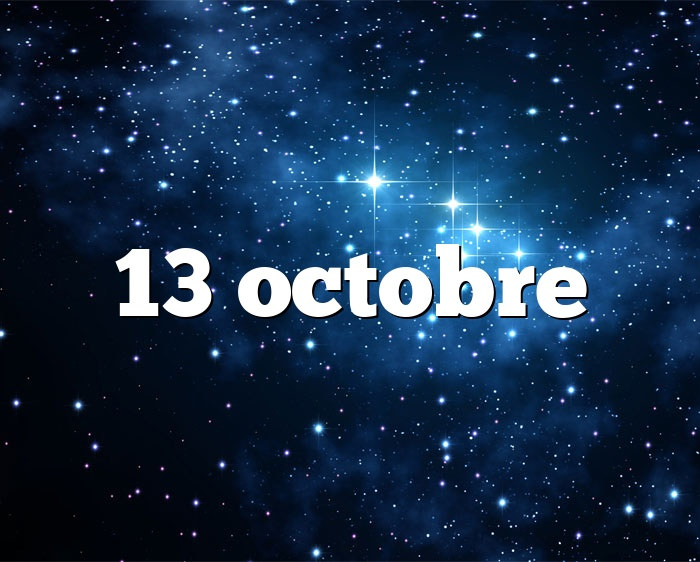 13 octobre