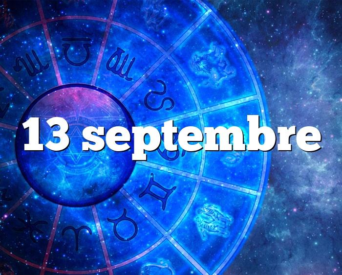 13 septembre