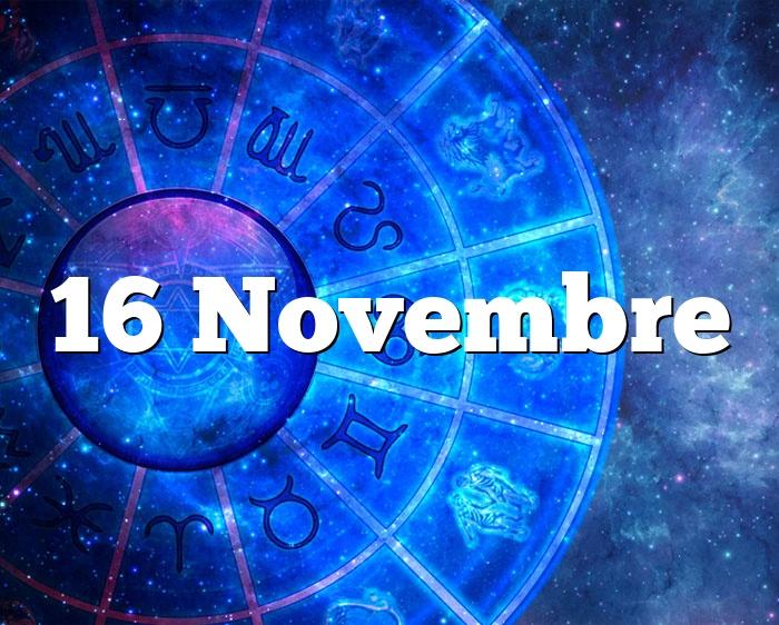 16 Novembre