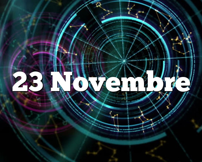 23 Novembre