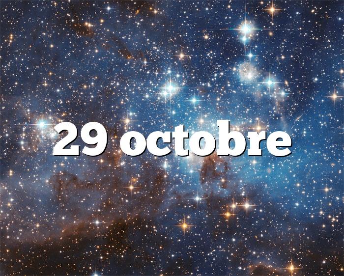 29 octobre