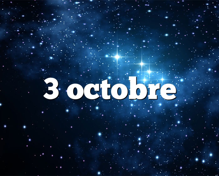 3 octobre