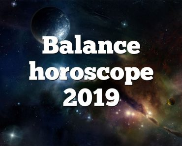 Balance horoscope 2019