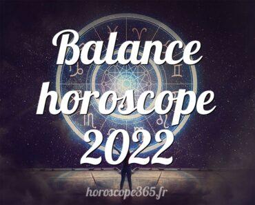 Balance horoscope 2022